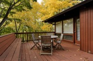 Back deck with ample entertaining space