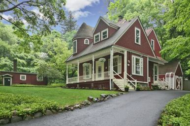 1879 Victorian farmhouse sits perfectly on three quarter acre, level property in secluded but central Irvington location. Original Lord and Burnham greenhouse.