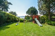 Private, fenced yard with river views