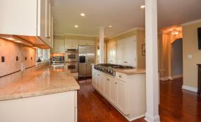 Granite counters and stainless steel appliances, double ovens