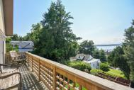 Two story deck with river views