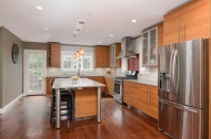 Large island, granite counters