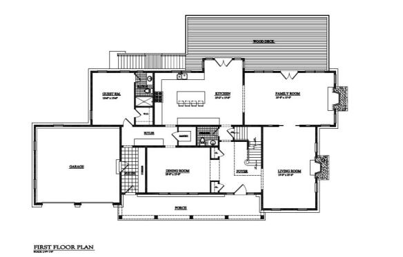 first floor plan lot 16