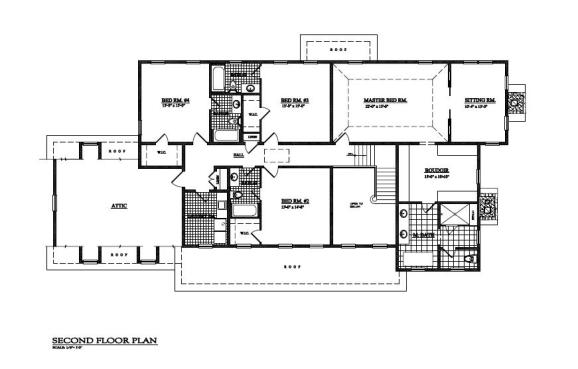 second floor plan lot 16